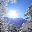 2010.01.24 朝日に輝く白銀の峰